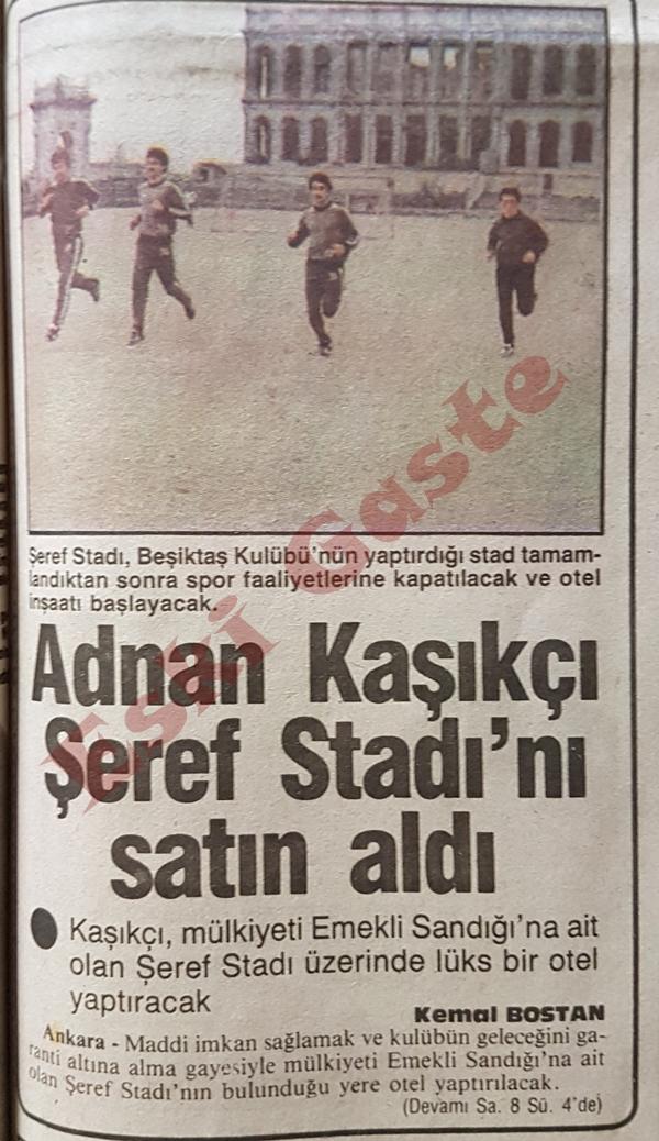 Adnan Kaşıkçı Şeref Stadı'nı satın aldı