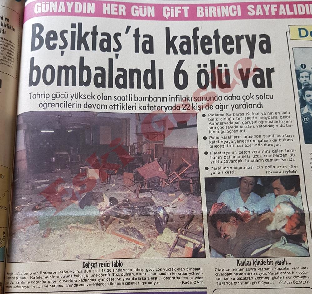 Beşiktaş'ta kafeterya bombalandı: 6 ölü