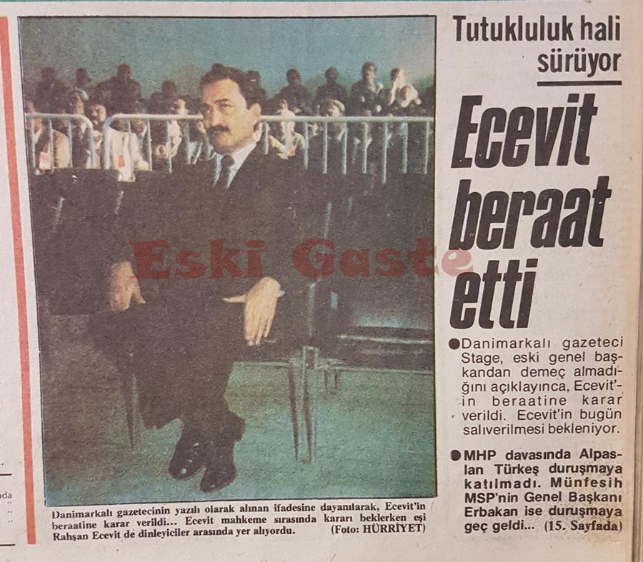 Bülent Ecevit beraat etti