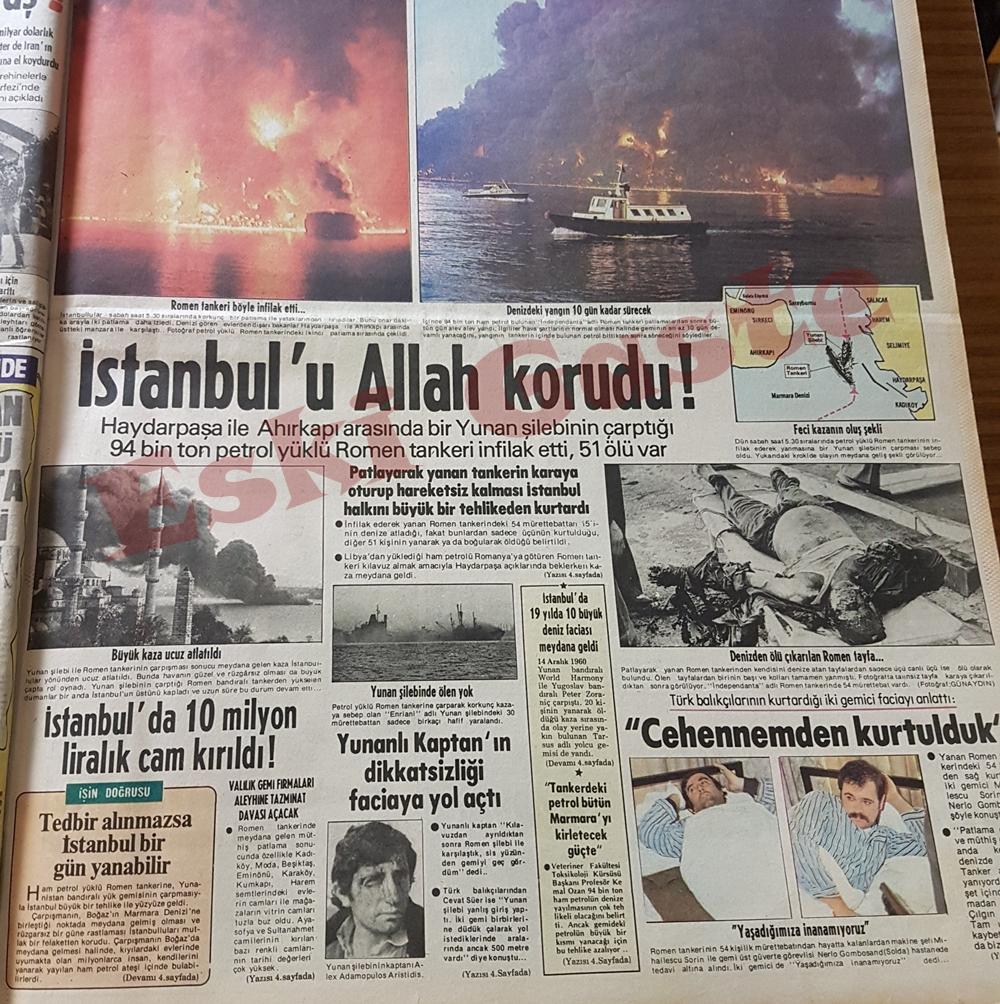 İstanbul'da tanker faciası