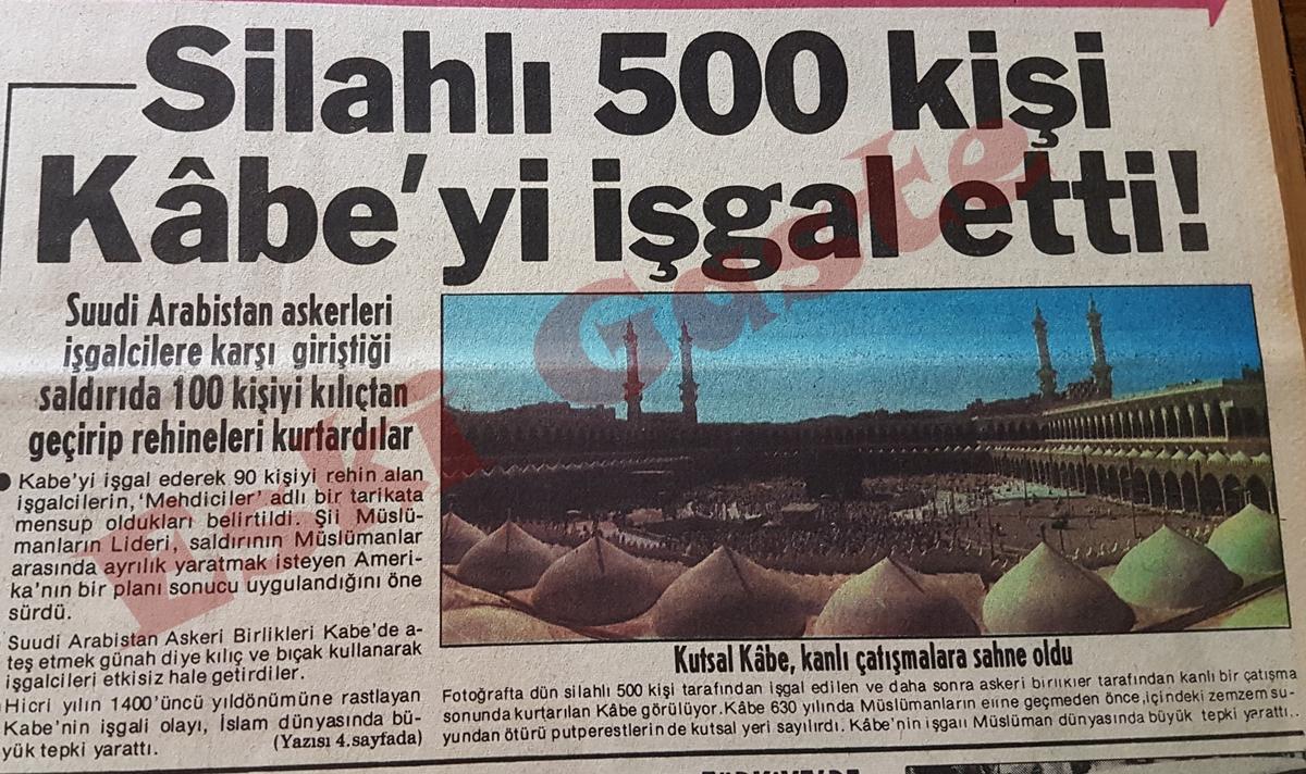 Silahlı 500 kişi Kabe'yi işgal etti
