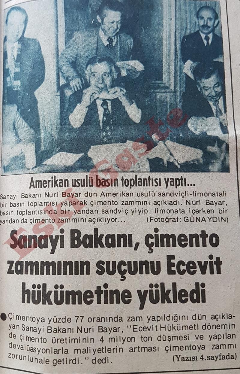 Sanayi Bakanı Nuri Bayar'dan Amerikan usulü basın toplantısı