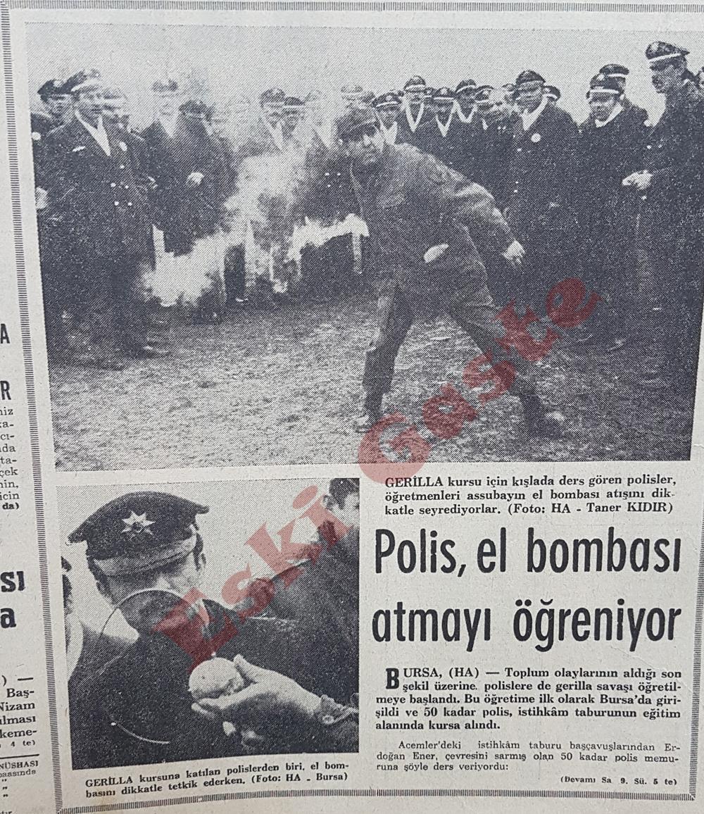 Polis el bombası atmayı öğreniyor