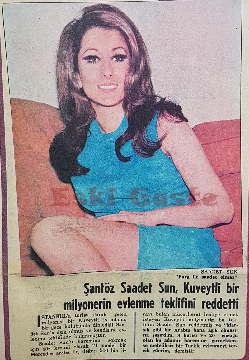 Şantöz Saadet Sun, Kuveytli bir milyonerin evlenme teklifini reddetti
