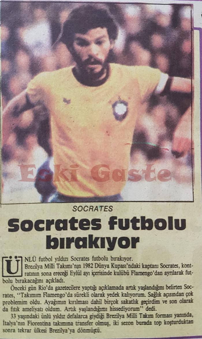 Socrates futbolu bırakıyor