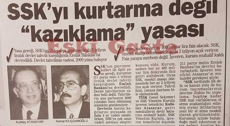 """SSK'yı kurtarma değil """"kazıklama"""" yasası"""