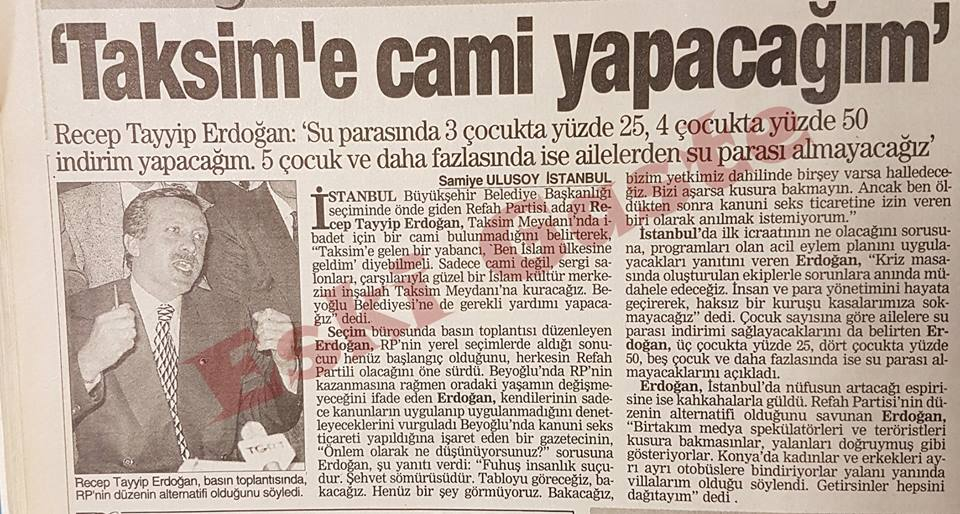 Taksim'e Cami Yapacağım