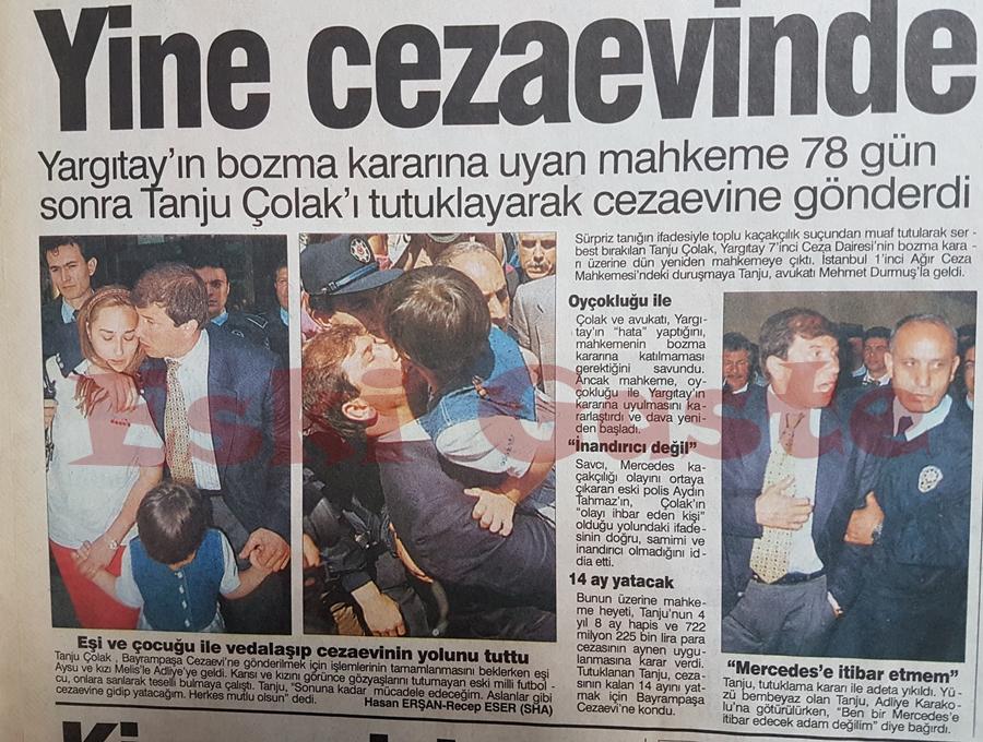 Tanju Çolak yine cezaevinde