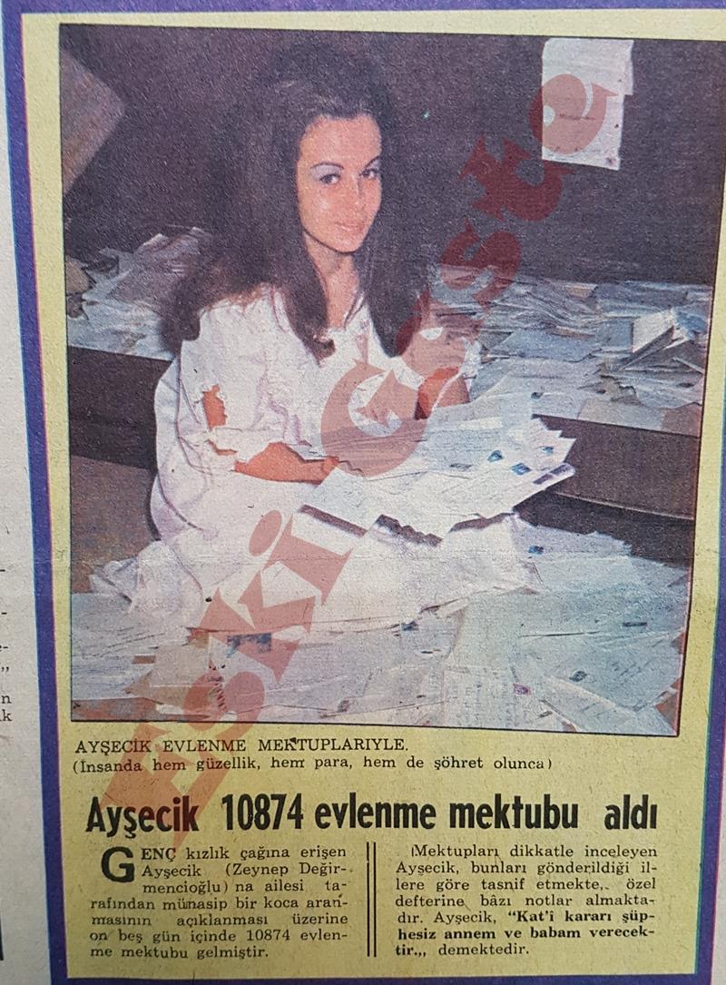 Ayşecik 10874 evlenme mektubu aldı