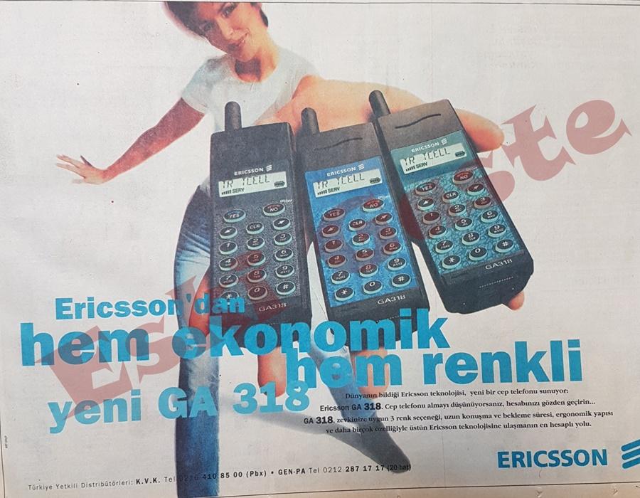 Ericsson GA 318 reklamı