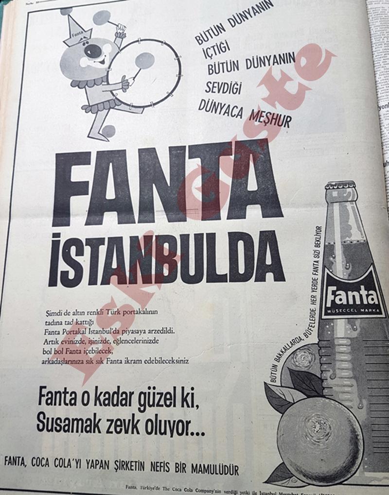 Fanta İstanbul'da! İlk Fanta reklamı