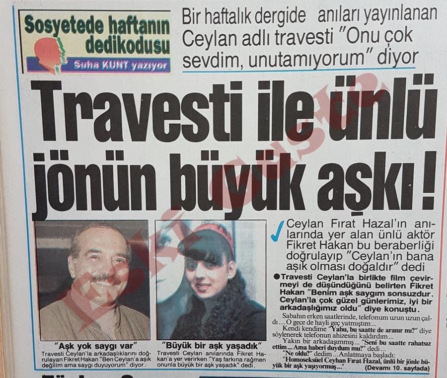 Travesti ile Fikret Hakan'ın büyük aşkı