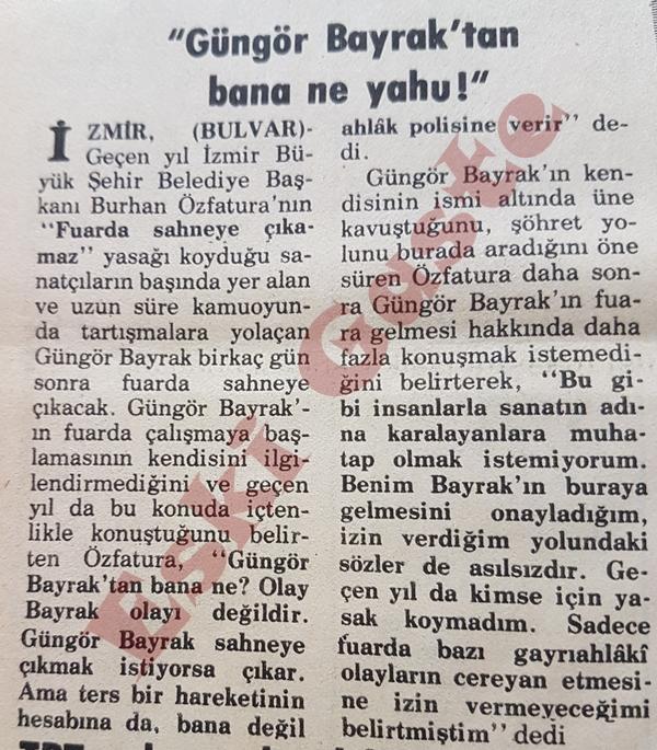 """Güngör Bayrak'tan bana ne yahu!"""