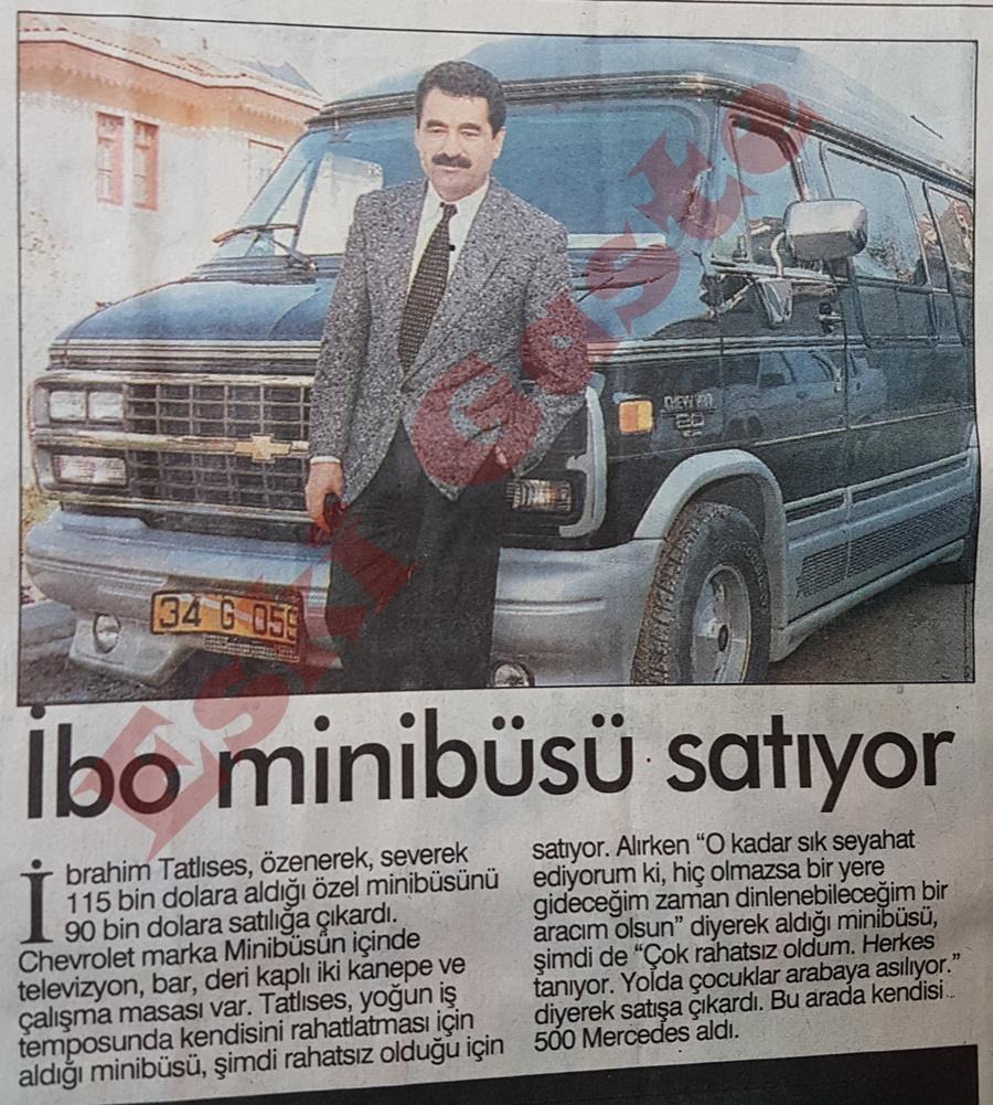 İbrahim Tatlıses minibüsünü satıyor