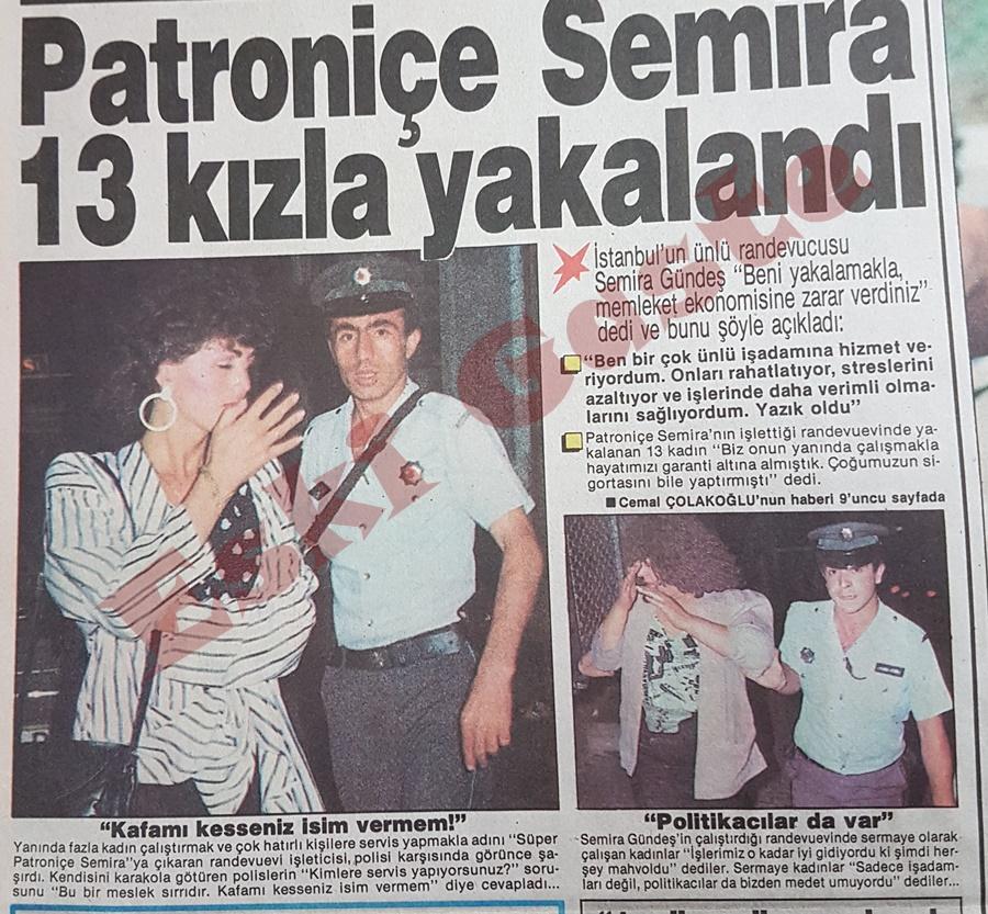 Patroniçe Semira 13 kızla yakalandı
