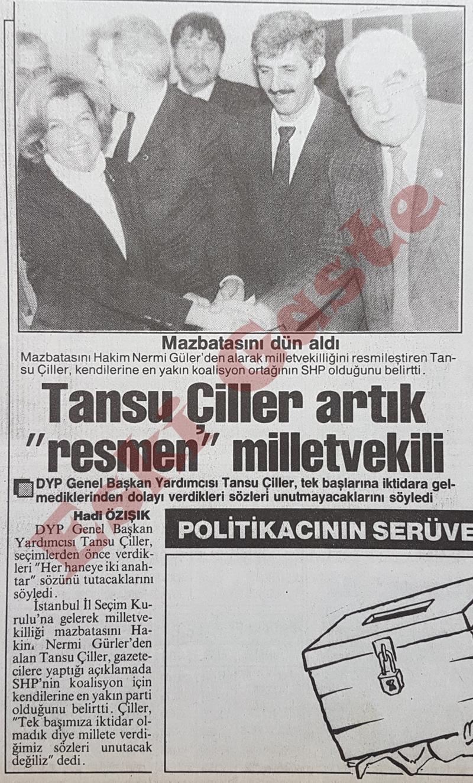 Tansu Çiller artık resmen milletvekili