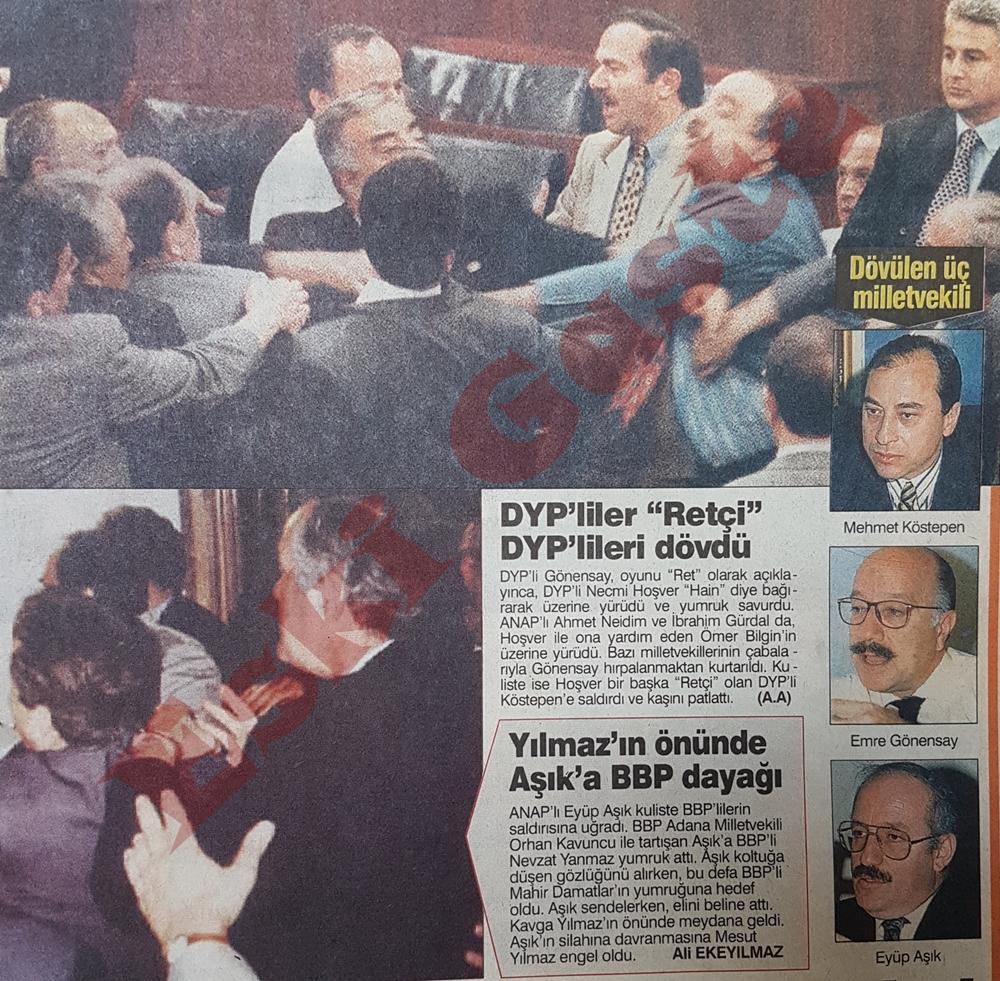 DYP'liler retçi DYP'lilere saldırdı