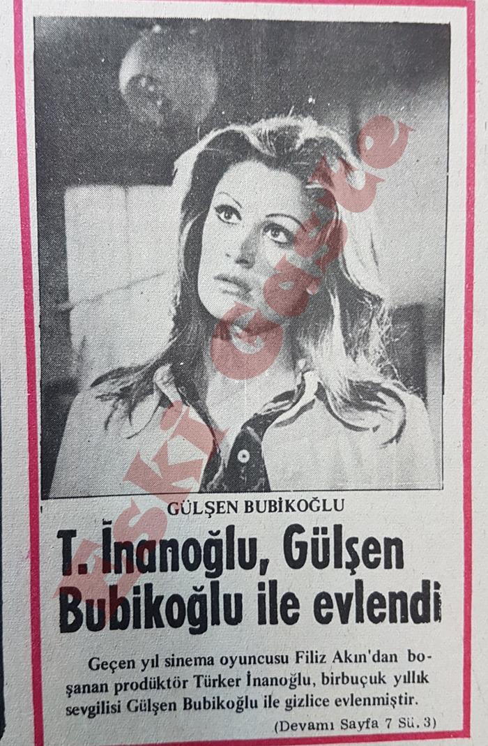Türker İnanoğlu Gülşen Bubikoğlu ile evlendi