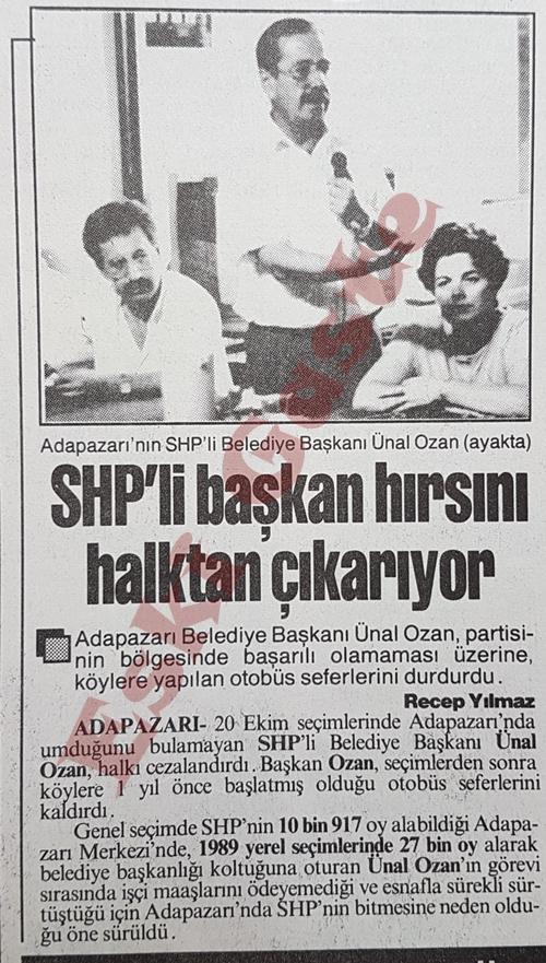 SHP'li başkan Ünal Ozan hırsını halktan çıkarıyor
