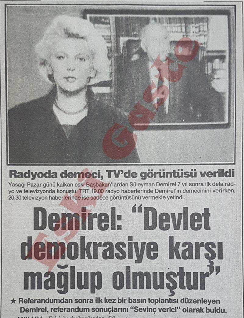 1987 referandum sonuçları / Demirel'den açıklama