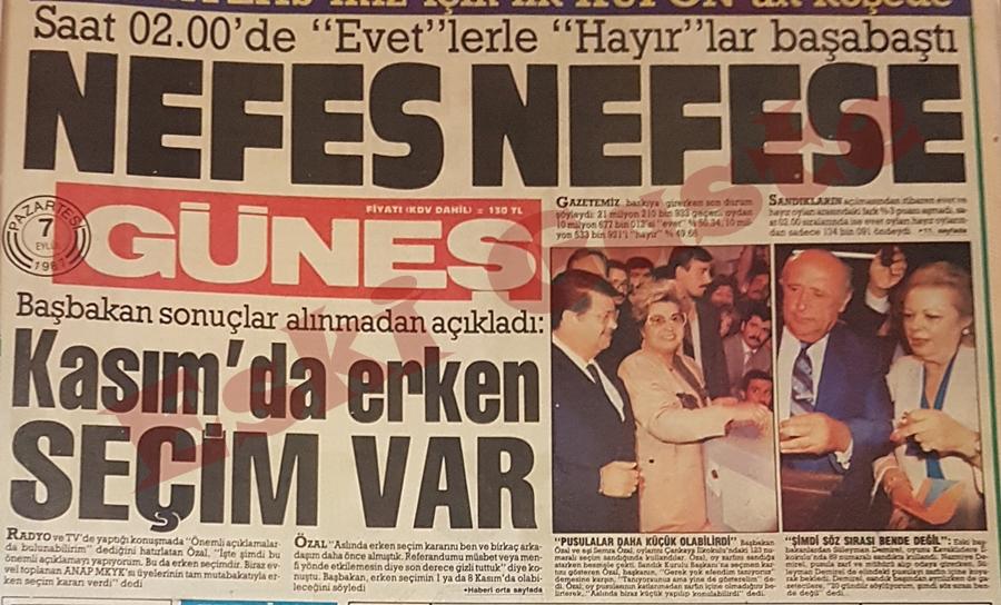 6 Eylül 1987 Referandum sonuçları