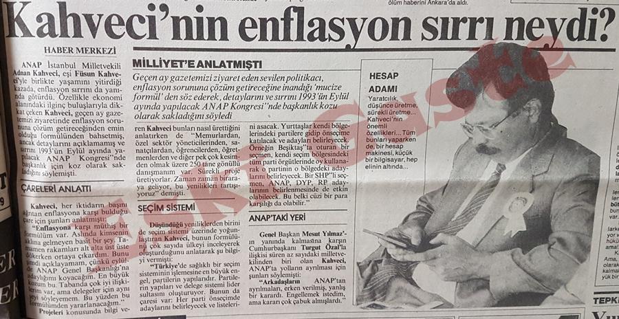Adnan Kahveci'nin enflasyon sırrı neydi? Adnan Kahveci Kimdir?