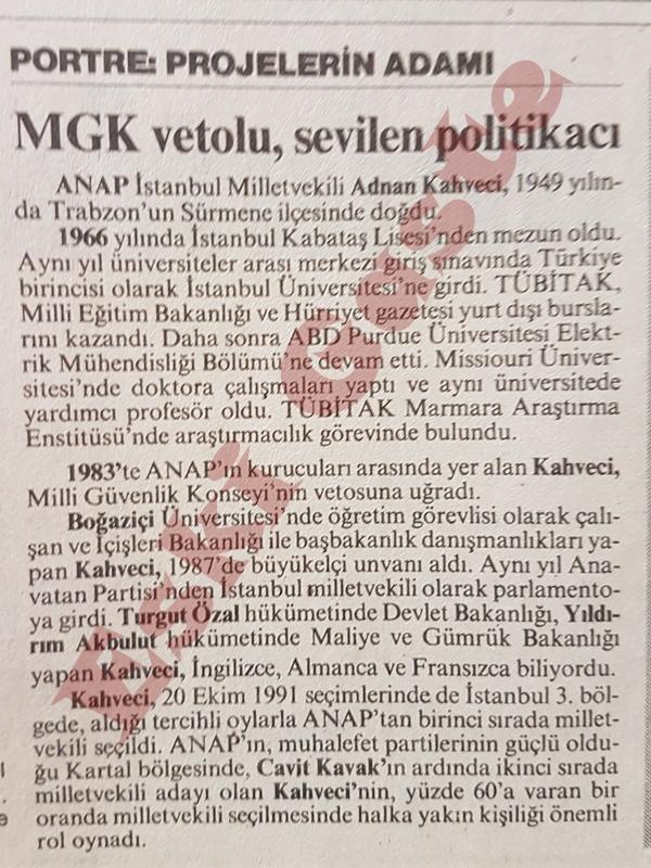 MGK vetolu, sevilen politikacı Adnan Kahveci kimdir?