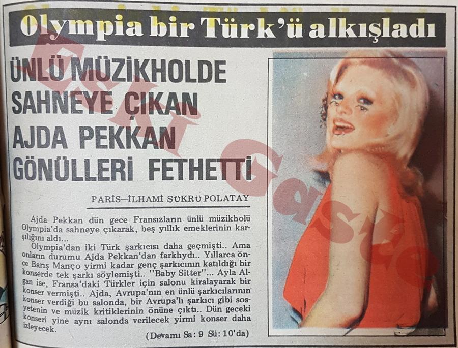 Ajda Pekkan Olympia'da gönülleri fethetti