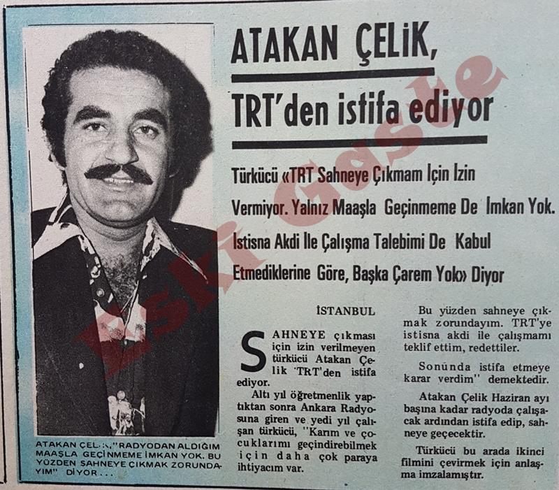 Atakan Çelik TRT'den istifa ediyor