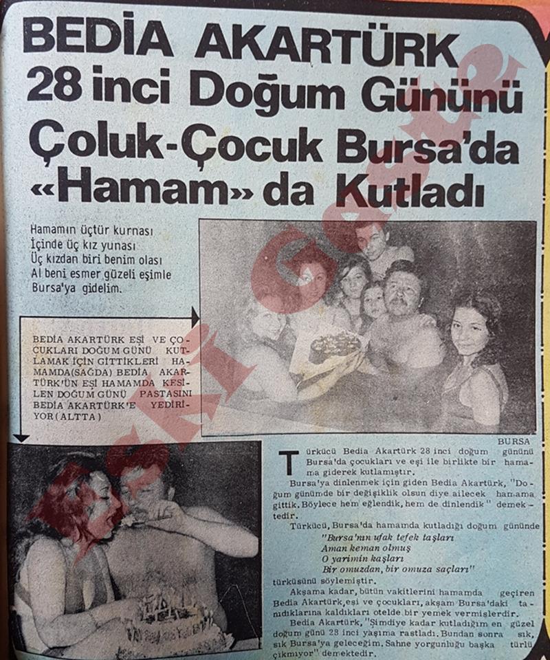 Bedia Akartürk doğum gününü Bursa'da kutladı