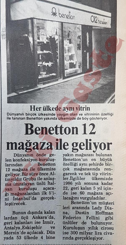 Benetton 12 mağaza ile geliyor