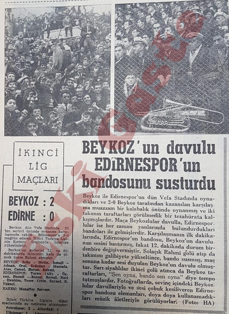 Beykoz'un davulu Edirnespor bandosunu susturdu