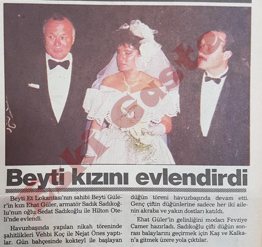 Beyti Güler kızını evlendirdi
