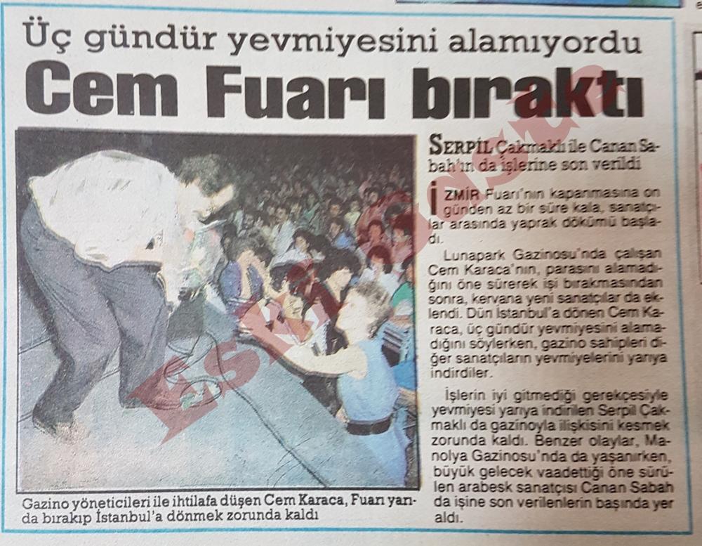 Cem Karaca İzmir Fuarını bıraktı