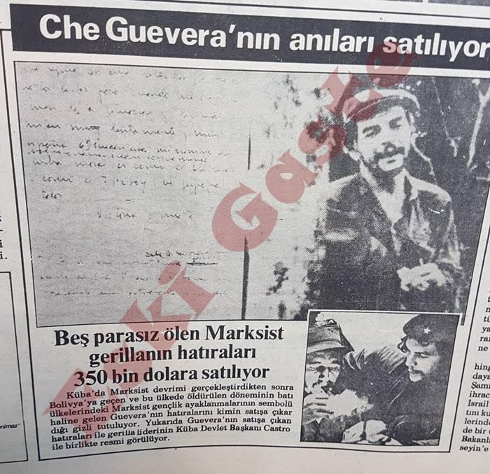 Che Guevara'nın anıları satılıyor