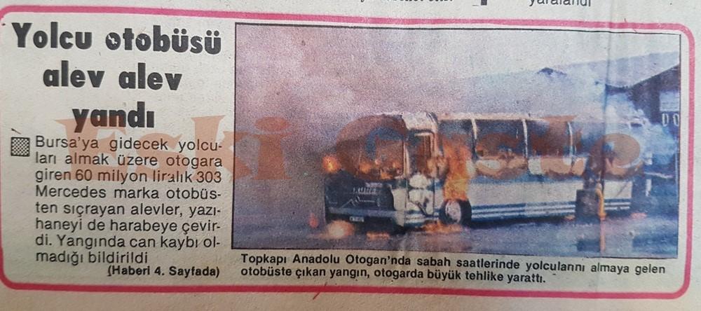 Doğan Körfez yolcu otobüsü alev alev yandı
