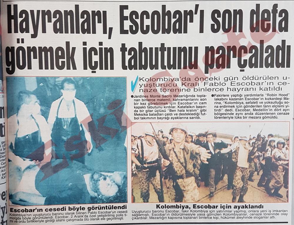 Hayranları Escobar'ın tabutunu parçaladı