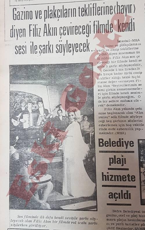 Filiz Akın filmde kendi sesi ile şarkı söyleyecek