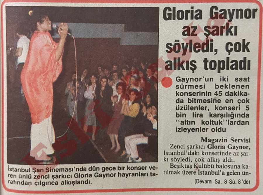Gloria Gaynor Beşiktaş Balosu için İstanbul'da