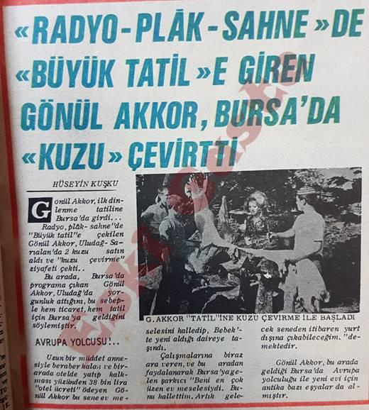 Gönül Akkor Bursa'da kuzu çevirtti