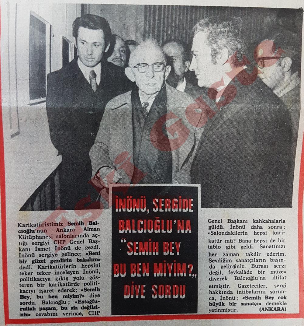 """İsmet İnönü sergide Semih Balcıoğlu'na """"Semih bey bu ben miyim?"""" diye sordu"""