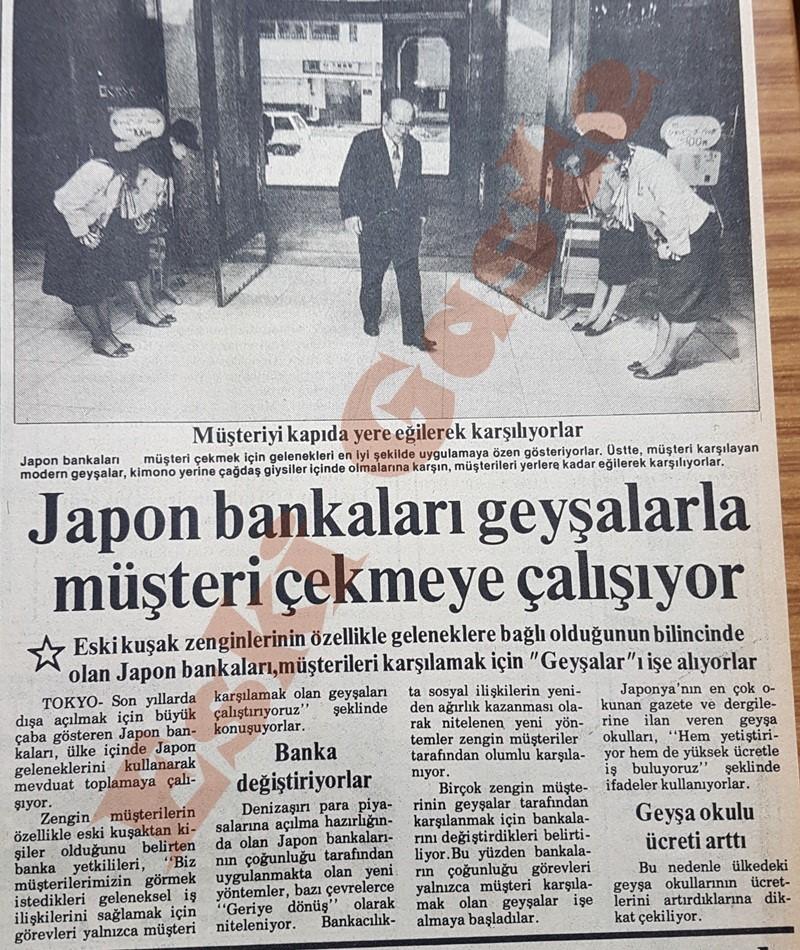 Japon bankaları geyşalarla müşteri çekmeye çalışıyor