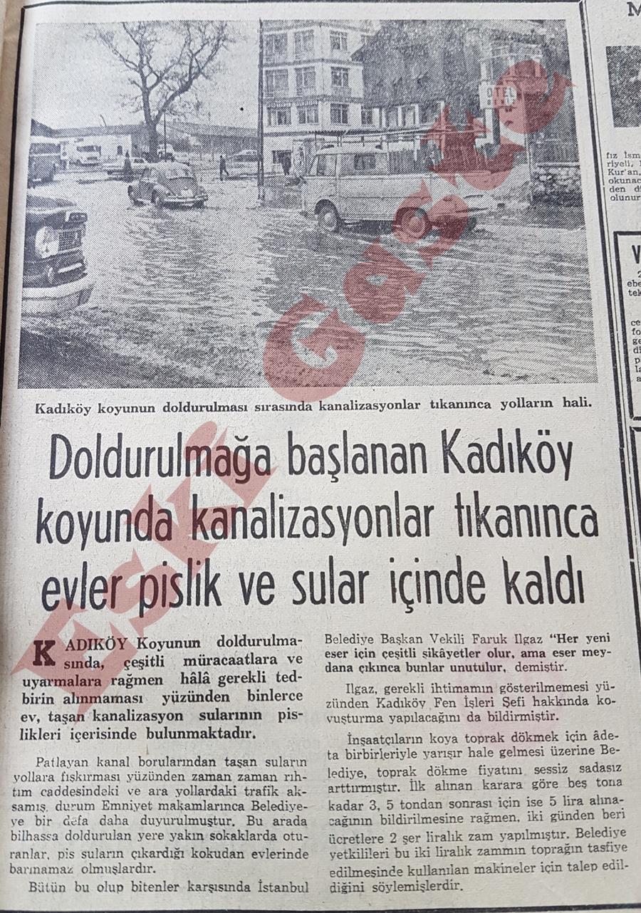 Kadıköy koyu dolduruldu evleri su bastı