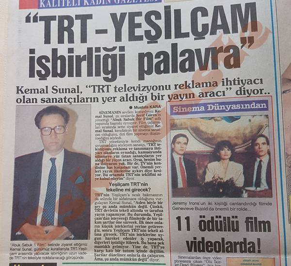Kemal Sunal: TRT-Yeşilçam işbirliği palavra