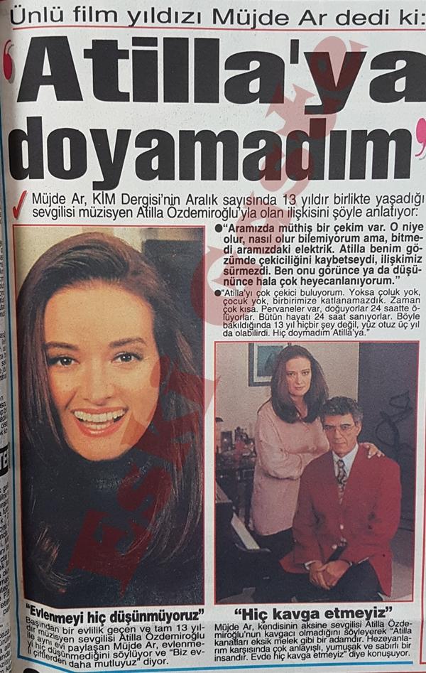 Müjde Ar: Atilla Özdemiroğlu'na doyamadım