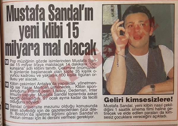 Mustafa Sandal'ın Dokunsana klibi 15 milyara mal olacak