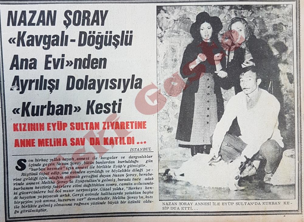 Nazan Şoray kurban kesti