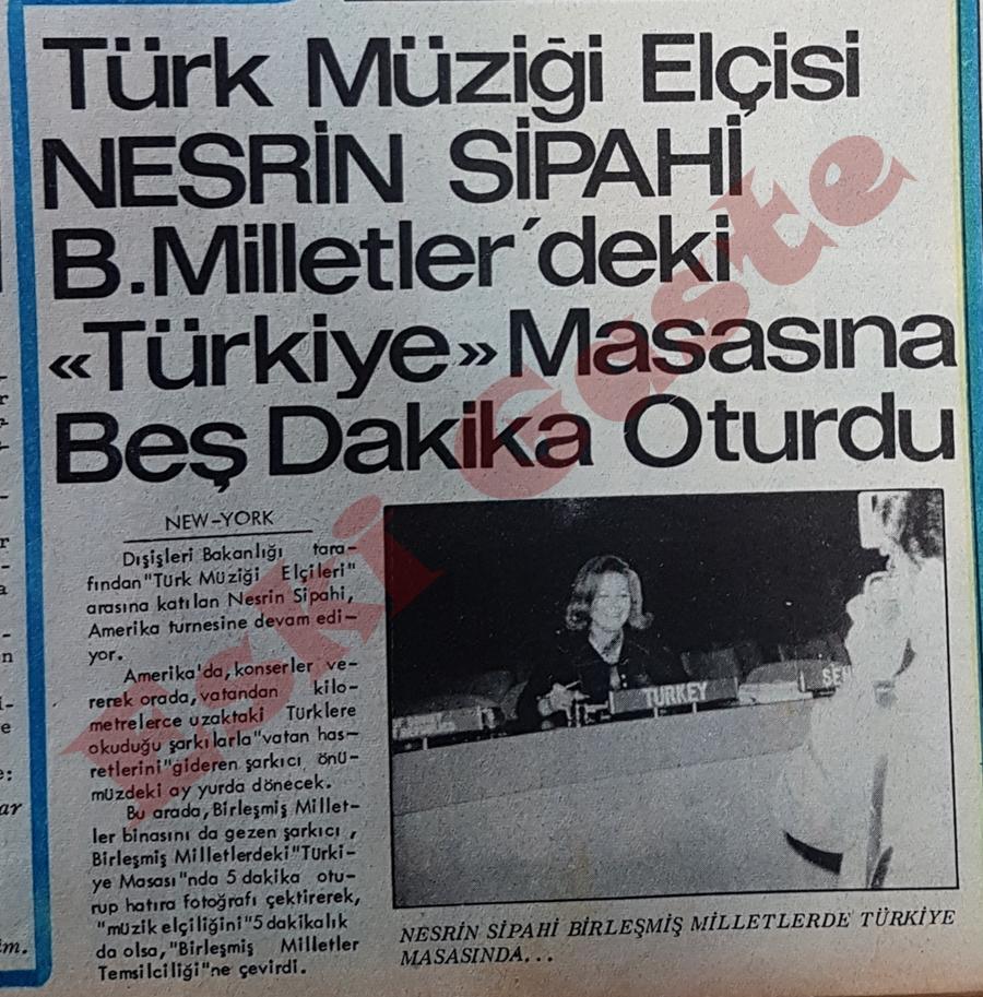Nesrin Sipahi Birleşmiş Milletler Türkiye masasına oturdu
