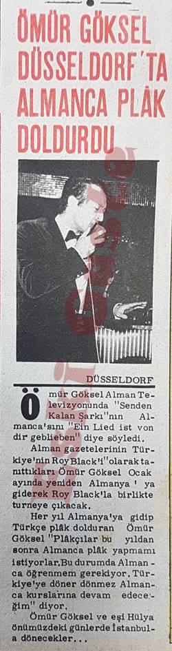 Ömür Göksel Düsseldorf'ta Almanca plak doldurdu