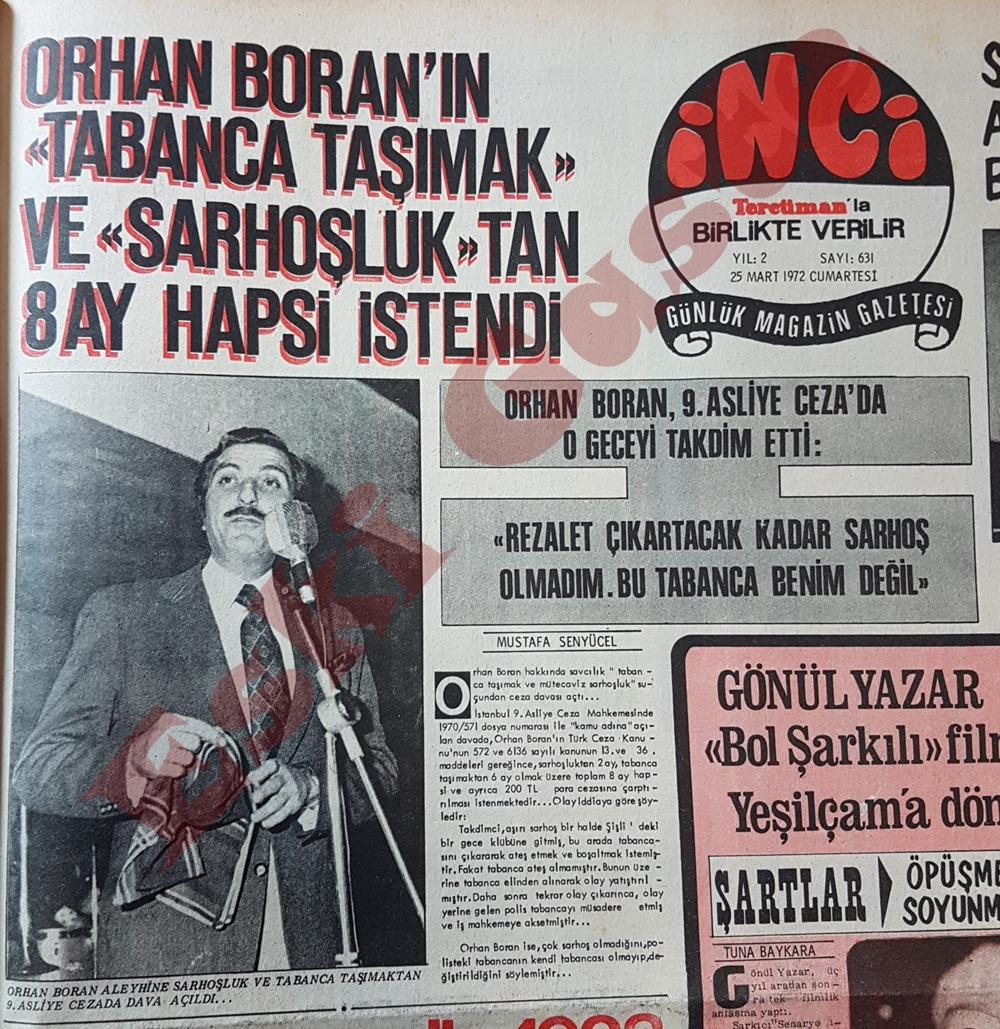Orhan Boran'ın 8 ay hapis istendi